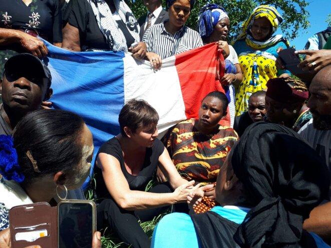 La ministre des outre-mer, Annick Girardin, est arrivée lundi 12 mars dans l'océan Indien. © Ministère de l'Outre-mer