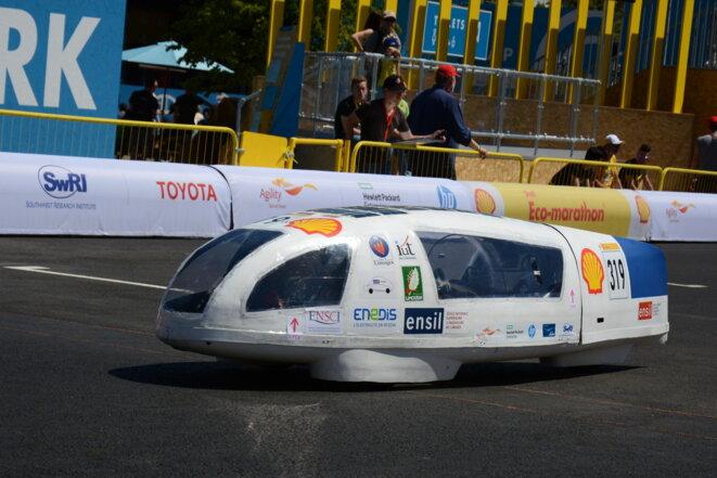 Prototype de voiture électrique de l'école d'ingénieurs de Limoges participant à l'édition 2017 du Shell Eco Marathon © ENSIL-ENSCI