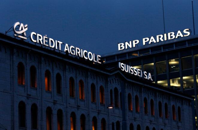 Le siège du Crédit agricole à Genève. © Reuters