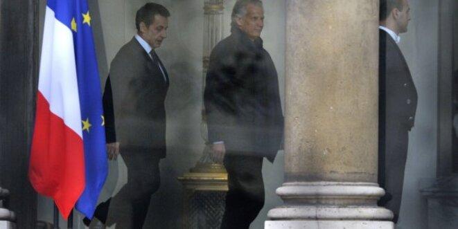 Les premières retrouvailles entre Nicolas Sarkozy et Dominique de Villepin en 2011. © Reuters