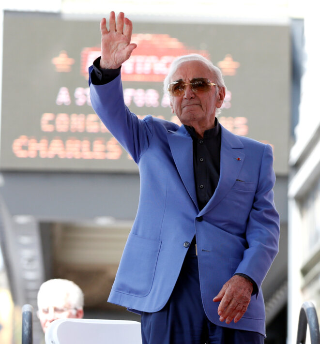 Le 24 août 2017 à Hollywood, Charles Aznavour vient de dévoiler son «étoile» sur la «Walk of Fame». © Reuters