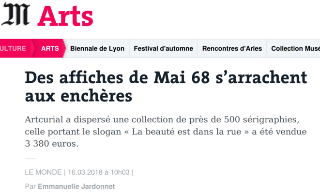 http://www.lemonde.fr/arts/article/2018/03/16/des-affiches-de-mai-68-s-arrachent-aux-encheres_5271832_1655012.html