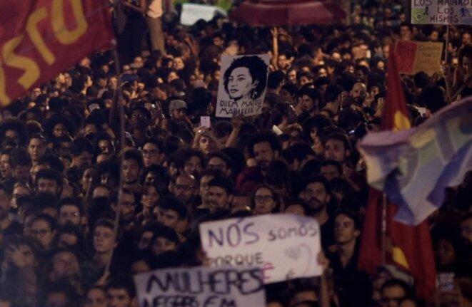 Manifestation à Rio, le 15 mars © Ricardo Mora/Reuters