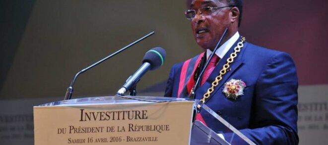 Lors de l'investiture du Président Sassou Nguesso, en avril 2016