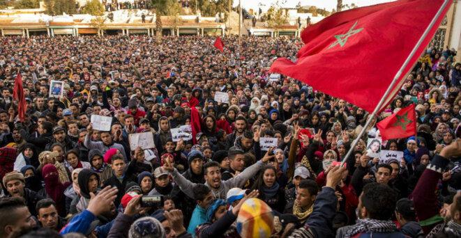 Photos d'archive. Manifestations à Jerada. Crédit: DR H24 © H24