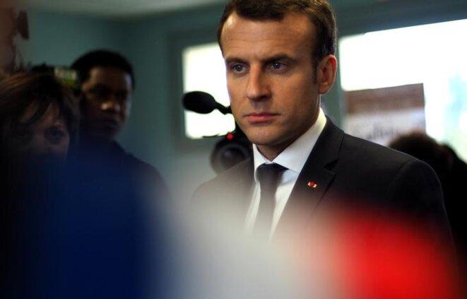 Emmanuel Macron, 15 mars 2018. © Reuters