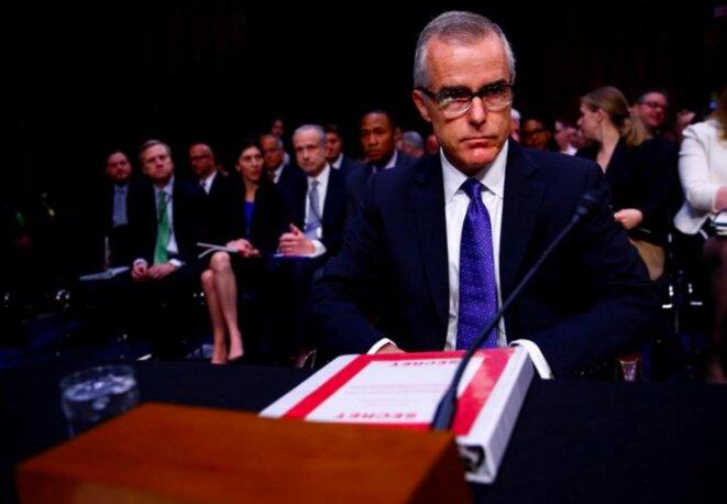 Andrew McCabe, alors directeur par intérim du FBI, lors d'une audition au Congrès le 11 mai 2017. © Reuters