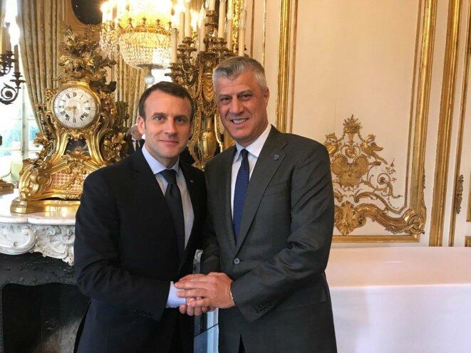 Hashim Thaçi reçu par Emmanuel Macron le 14 mars 2018