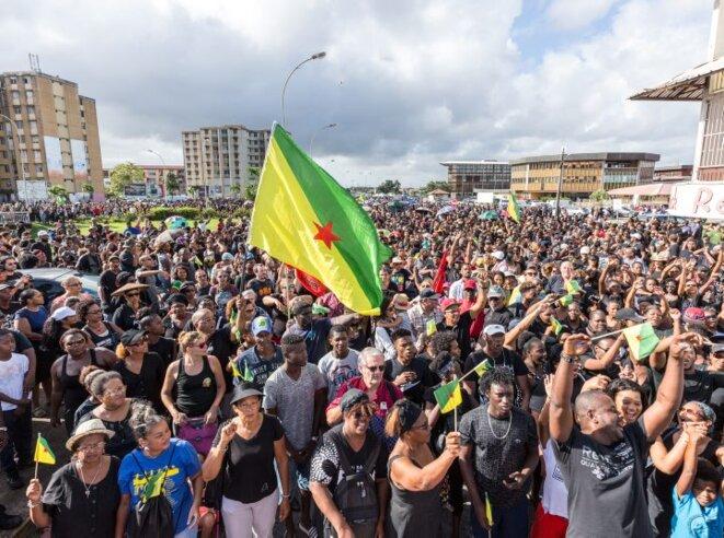 La marche du 28 mars 2017 contre l'insecurIté, le néocolonialisme et l'exploitation en Guyane