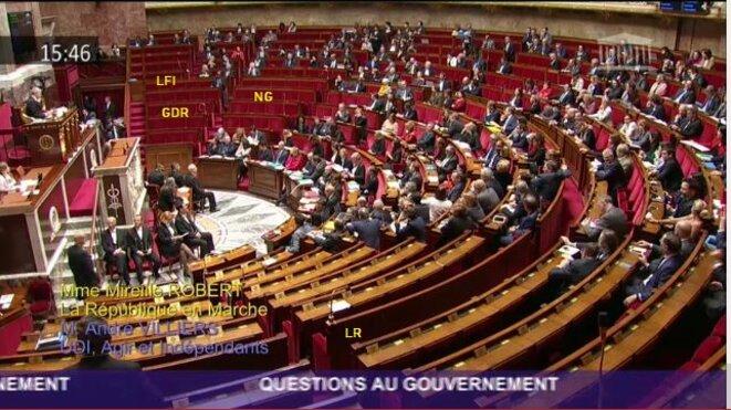 Questions au gouvernement - 21 mars 2018 © Capture d'écran - AN