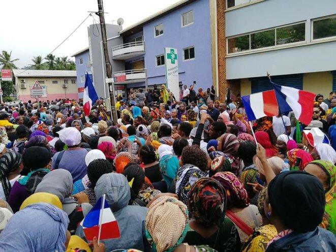 Manifestation à Mamoudzou le 7 mars 2018.Credits : AFP. Franceculture.fr