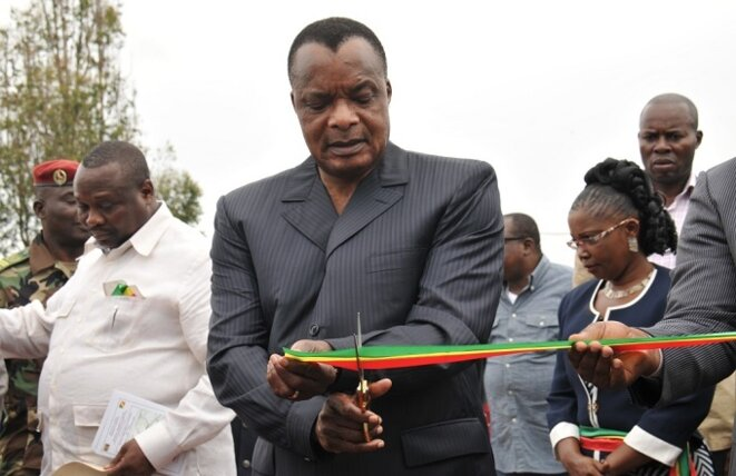 Inauguration en mai 2017 du barrage hydroélectrique de Liouesso par Sassou Nguesso