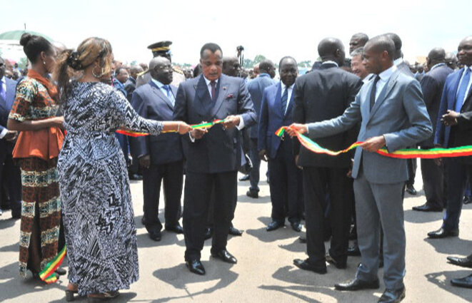 Inauguration de l'hôpital d'Oyo par Sassou Nguesso