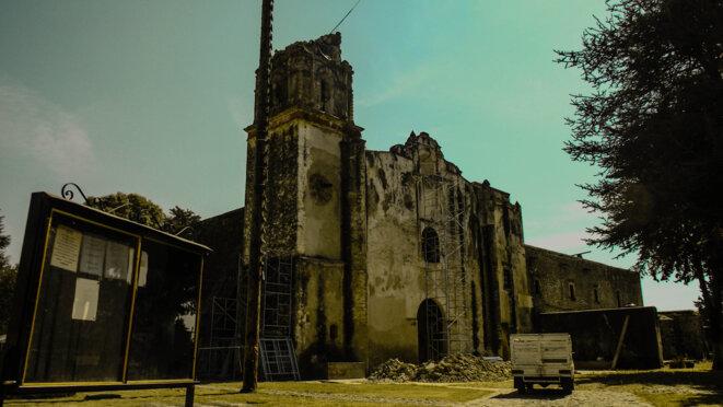 L'ex-couvent augustin Santo Domingo de Hueyapan, après le séisme du 19 septembre 2017 © Rosy Linares