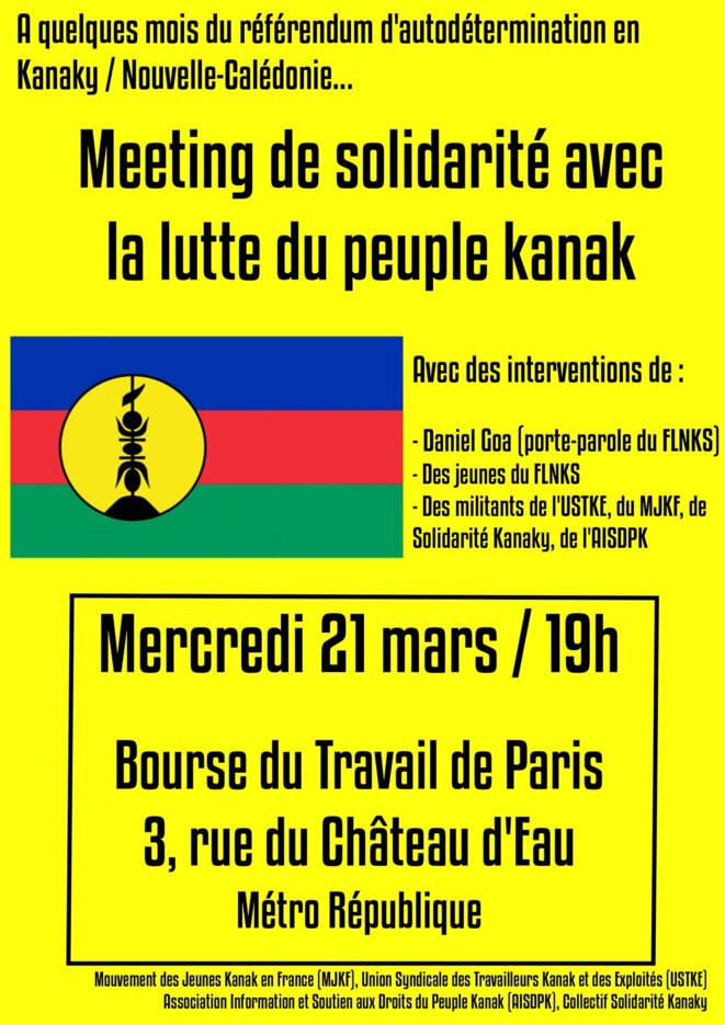 Meeting de la Bourse du travail - Affiche