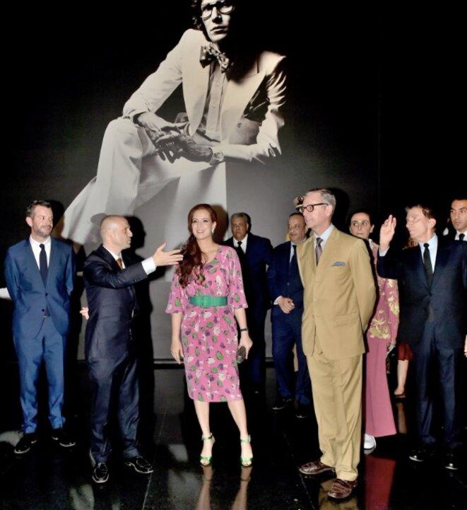 La princesse Lalla Salma présidant la cérémonie d'inauguration du musée Yves Saint Laurent à Marrakech, le 16 octobre 2017. © MAP