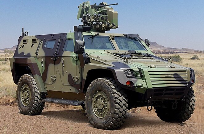 Le Cobra II, de l'industriel turc Otokar. 82 de ces véhicules blindés ont été payés par l'UE, qui prétend pourtant ne pas financer d'équipements militaires à la Turquie. © Otokar