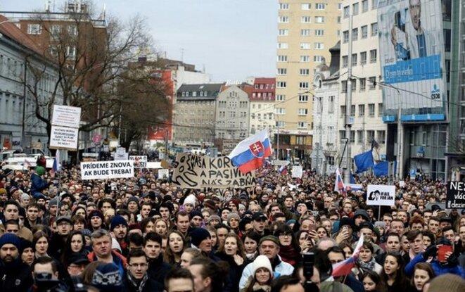 À Bratislava, le 23 mars 2018. © REUTERS/David W. Cerny