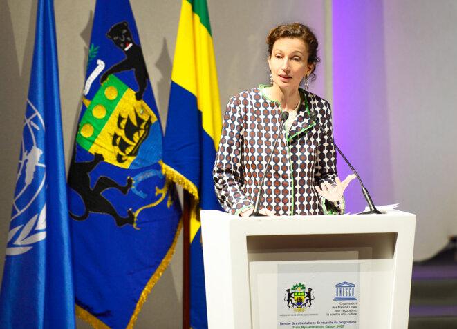 REMISE ATTESTATIONS TRAIN MY GENERATION GABON -Audrey Azoulay, Directrice générale de l'UNESCO - © DCP
