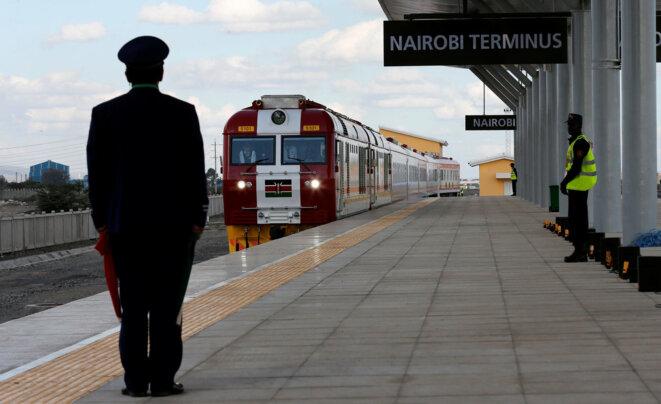 Au Kenya, la ligne Nairobi-Mombasa, financée par la Chine, a été inaugurée le 31 mai 2017. © Reuters
