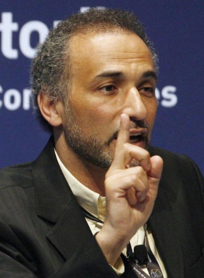 Tariq Ramadan en mai 2009, lors d'une conférence au Portugal. © Reuters