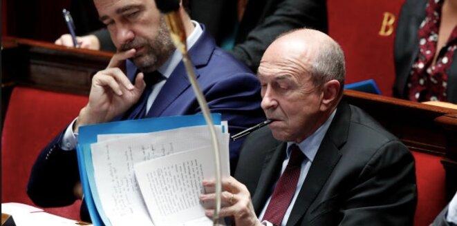 Le ministre de l'intérieur Gérard Collomb © Reuters