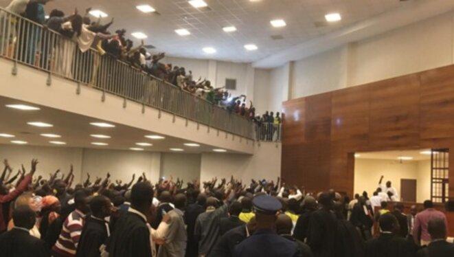 Khalifa Sall en jugement au palais de justice de Dakar