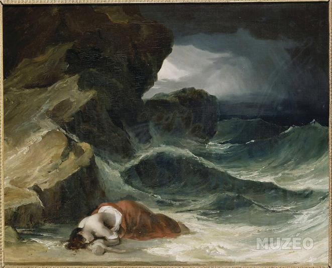 L'Epave, dit aussi La Tempête ou Scène inspirée du naufrage de Luisa de Mello © Théodre Géricault