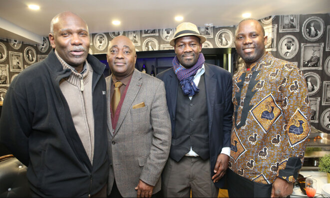 Emmanuel Gordien, Gervais Loembe, Sergue Guezo et Guillaume Kouka. © Visiter Le Congo