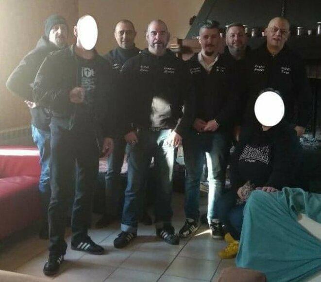 Photo postée sur la page Facebook des Soldats d'Odin avec la légende suivante: « AG 2018 soldats d'Odin officiel France ».