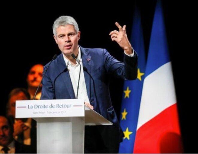 Discours de Laurent Wauquiez lors de son élection à la tête de LR. © Reuters