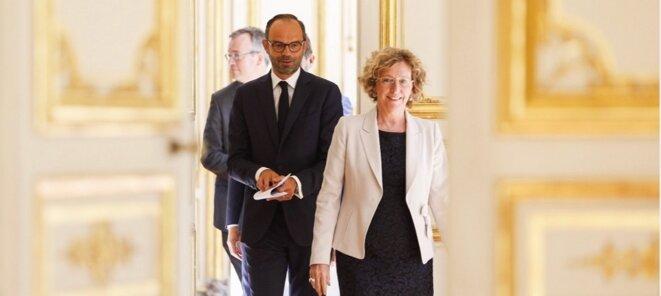 Muriel Pénicaud, ministre du travail et Edouard Philippe, premier ministre © DR