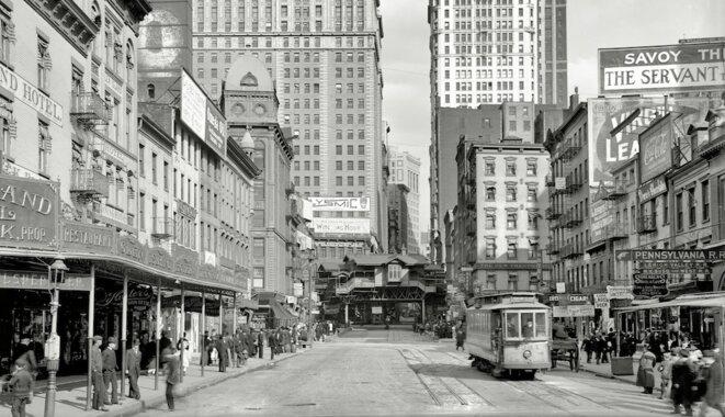 New York en 1908, Cortlandt Street