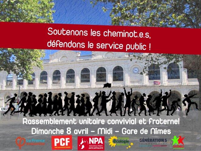 Appel à un rassemblement à Nîmes © Clément Luy