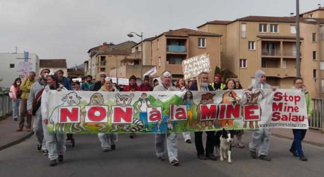 Manifestation Stop Mine Salau © Favier