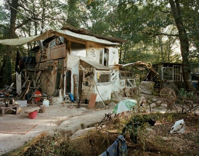 Une cabane sur la ZAD de Notre-Dame-des-Landes ©Immo Klink