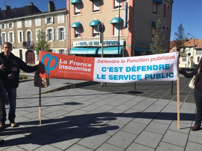 Banderolle France Insoumise © Renaud