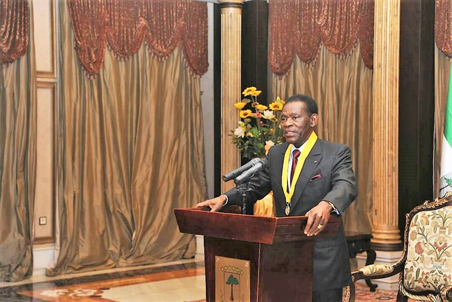GUINEE EQUATORIALE – Cérémonie de remise du diplôme de reconnaissance et au mérite au Président OBIANG NGUEMA MBASOGO