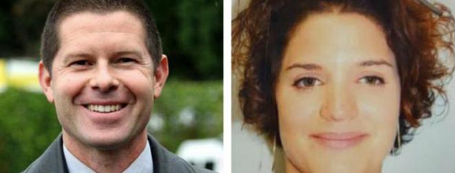 Jean-Baptiste Salvaing et Jessica Schneider, les deux policiers tués à Magnanville. © © Police Nationale