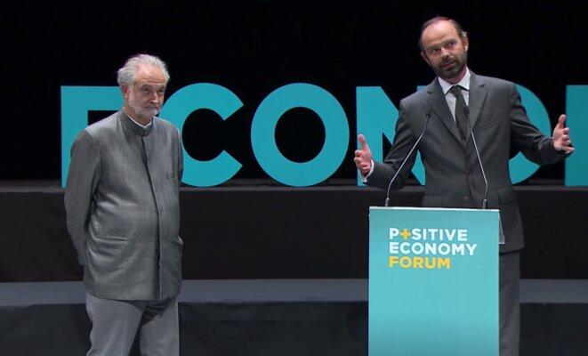 Edouard Philippe et Jacques Attali, lors d'un des forum organisé au Havre © DR