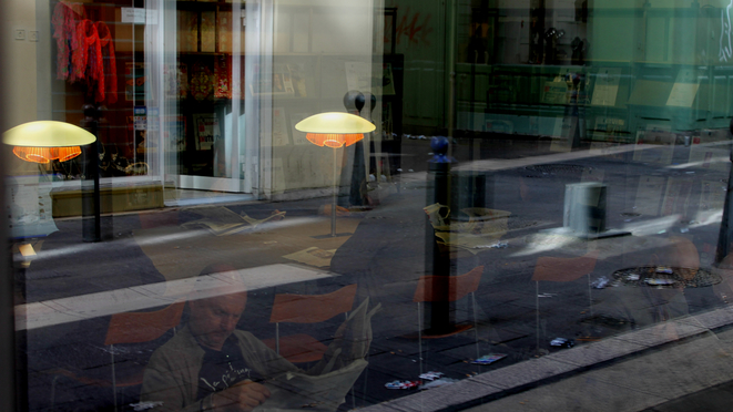 Espace presse à la bibliotèque de l'Alcazar. © Benoit Gilles (Marsactu)