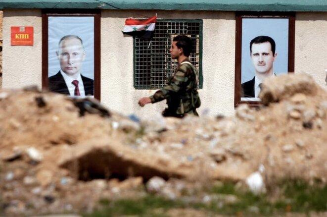 A l'est de la Ghouta, le 28 février 2018. © Reuters