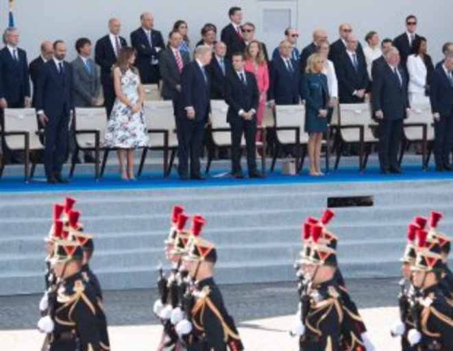 Le Président Trump a été tellement impressionné par le défilé militaire qu'il a vu à Paris le 14 juillet qu'il a donné l'ordre au Pentagone d'en prévoir un plus grand à Washington. © Whitehouse.gov