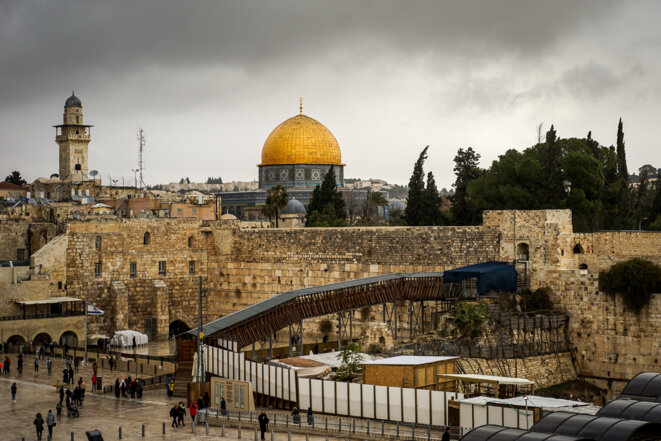 Le cœur du problème : Jérusalem, le mont du Temple et l'esplanade des Mosquées. © Thomas Cantaloube