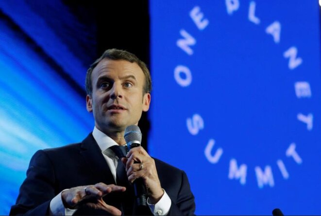 Emmanuel Macron au One Planet Summit en décembre 2017 © Reuters