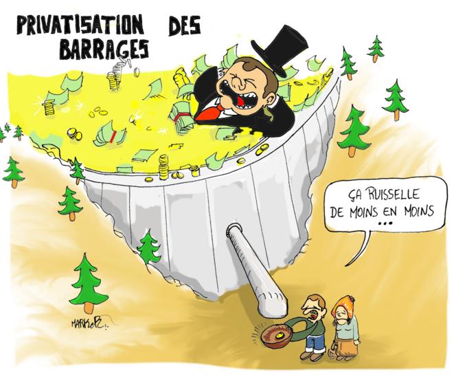 Privatisation des barrages © Marker