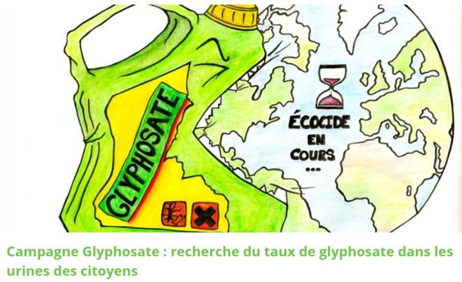 Campagne Glyphosate © Dessin de Laura pour Les Faucheurs Volontaires