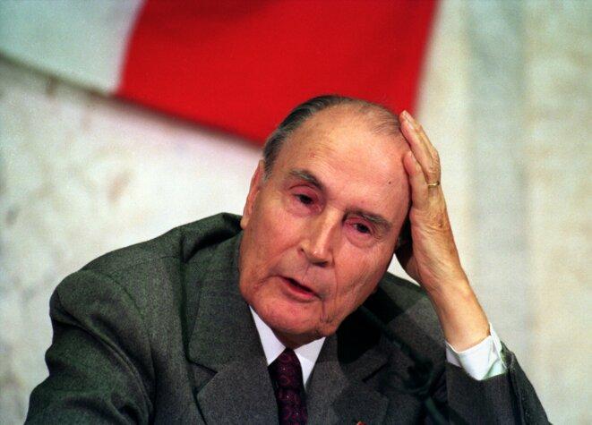 François Mitterrand, le 30 septembre 1993. © Reuters