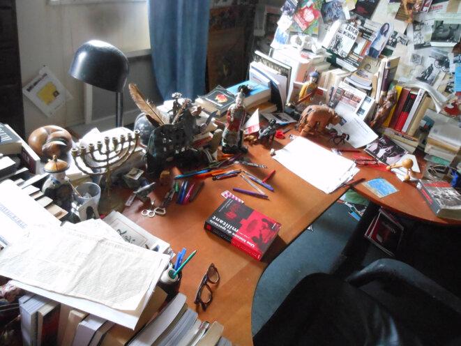 Le bureau d'Armand Gatti où rien n'a bougé, aujourd'hui à la Maison de l'arbre