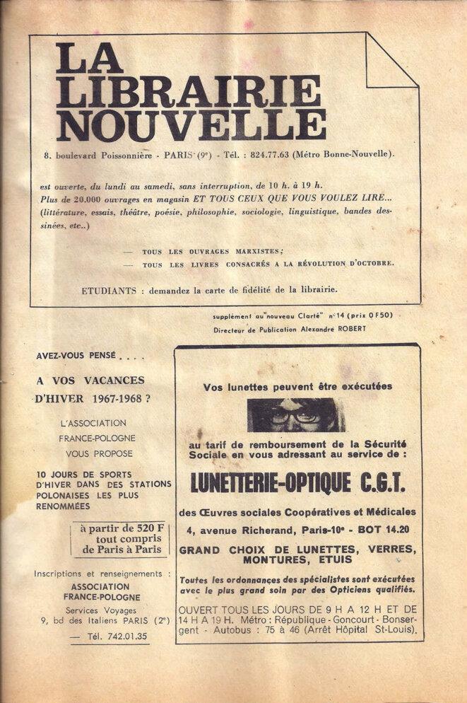 Journal du secteur sciences de l'UECF, décembre 1967, page 7/8 © UECF, union des étudiants communistes de France